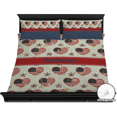 Americana Duvet Cover Set - King (Personalized)