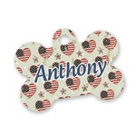Americana Bone Shaped Dog Tag (Personalized)