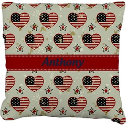 """Americana Faux-Linen Throw Pillow 26"""" (Personalized)"""