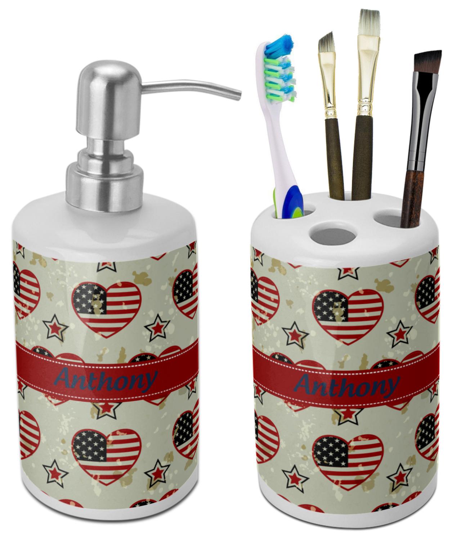 Americana Bathroom Accessories Set