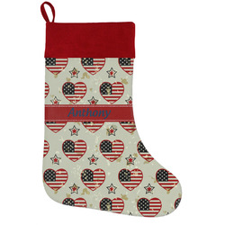 Americana Holiday Stocking w/ Name or Text