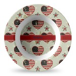 Americana Plastic Bowl - Microwave Safe - Composite Polymer (Personalized)