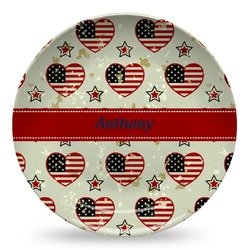 Americana Microwave Safe Plastic Plate - Composite Polymer (Personalized)