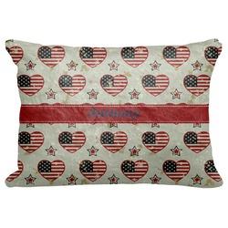 "Americana Decorative Baby Pillowcase - 16""x12"" (Personalized)"