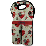 Americana Wine Tote Bag (2 Bottles) (Personalized)