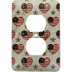 Americana Electric Outlet Plate (Personalized)