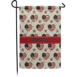 Americana Single Sided Garden Flag With Pole (Personalized)