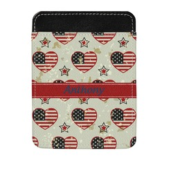 Americana Genuine Leather Money Clip (Personalized)