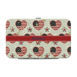 Americana Genuine Leather Small Framed Wallet (Personalized)