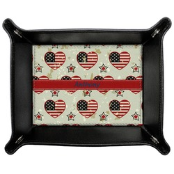 Americana Genuine Leather Valet Tray (Personalized)