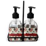 Americana Soap & Lotion Dispenser Set (Glass) (Personalized)