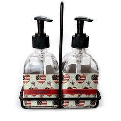 Americana Soap/Lotion Dispensers (Glass) (Personalized)