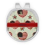 Americana Golf Ball Marker - Hat Clip - Silver
