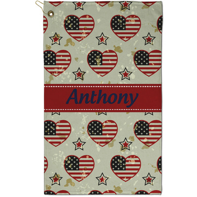Americana Golf Towel - Full Print - Small w/ Name or Text