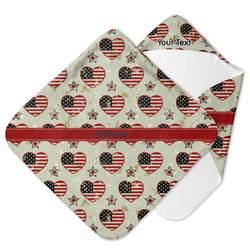 Americana Hooded Baby Towel (Personalized)