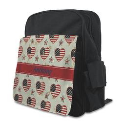 Americana Preschool Backpack (Personalized)