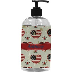 Americana Plastic Soap / Lotion Dispenser (16 oz - Large) (Personalized)