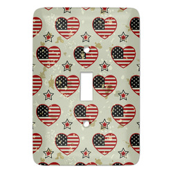 Americana Light Switch Cover (Single Toggle) (Personalized)