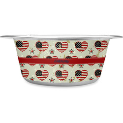 Americana Stainless Steel Pet Bowl (Personalized)