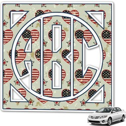 Americana Monogram Car Decal (Personalized)