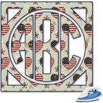 Americana Monogram Iron On Transfer (Personalized)
