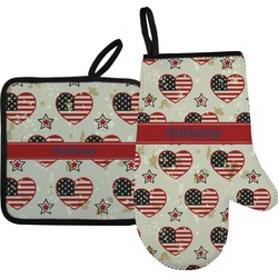 Americana Oven Mitt & Pot Holder (Personalized)
