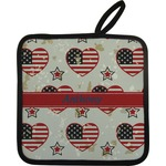 Americana Pot Holder w/ Name or Text