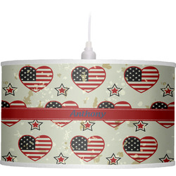 Americana Drum Pendant Lamp (Personalized)