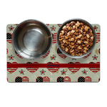 Americana Pet Bowl Mat (Personalized)