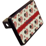 """Americana Rectangular Trailer Hitch Cover - 2"""" (Personalized)"""