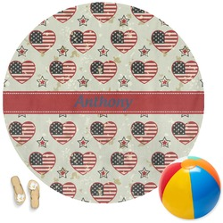 Americana Round Beach Towel (Personalized)