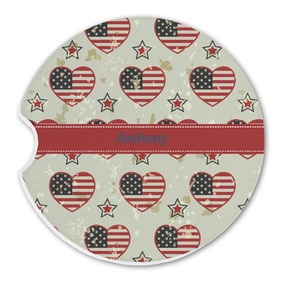 Americana Sandstone Car Coasters (Personalized)