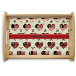 Americana Natural Wooden Tray (Personalized)
