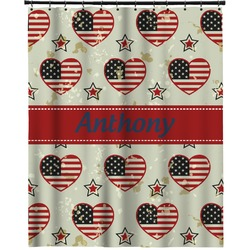 """Americana Extra Long Shower Curtain - 70""""x84"""" (Personalized)"""