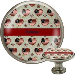 Americana Cabinet Knob (Silver) (Personalized)