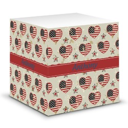 Americana Sticky Note Cube (Personalized)