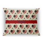Americana Rectangular Throw Pillow Case (Personalized)