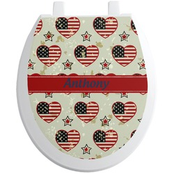 Americana Toilet Seat Decal (Personalized)