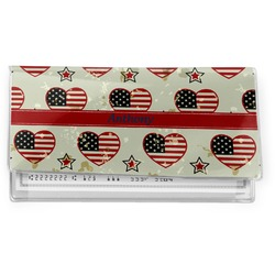 Americana Vinyl Check Book Cover (Personalized)