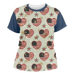Americana Women's Crew T-Shirt (Personalized)