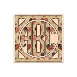 Americana Genuine Wood Sticker (Personalized)