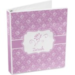 Lotus Flowers 3-Ring Binder (Personalized)