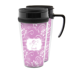 Lotus Flowers Acrylic Travel Mugs (Personalized)
