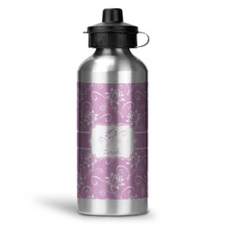 Lotus Flowers Water Bottle - Aluminum - 20 oz (Personalized)