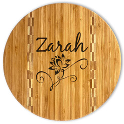 Lotus Flowers Bamboo Cutting Board (Personalized)
