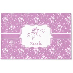 Lotus Flowers Woven Mat (Personalized)