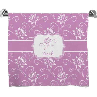Lotus Flowers Bath Towel (Personalized)