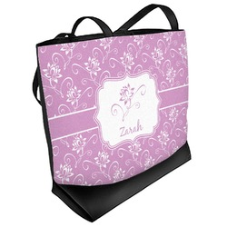 Lotus Flowers Beach Tote Bag (Personalized)