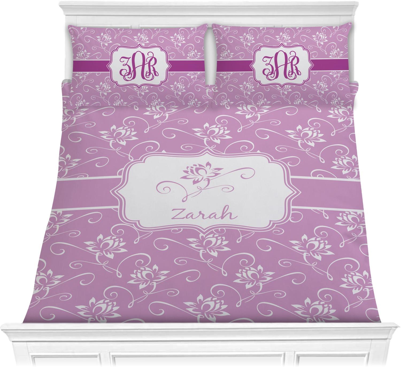 Lotus Flowers Comforter Set Personalized Youcustomizeit