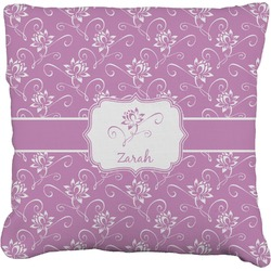 """Lotus Flowers Faux-Linen Throw Pillow 26"""" (Personalized)"""